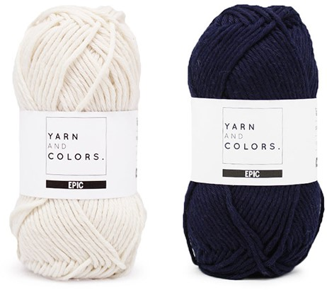 Yarn and Colors Striped Jumper Reversed Strickpaket 3 XL Dark Blue