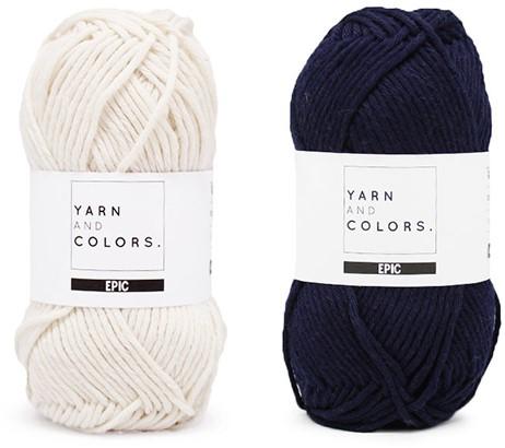 Yarn and Colors Striped Jumper Reversed Strickpaket 3 M Dark Blue