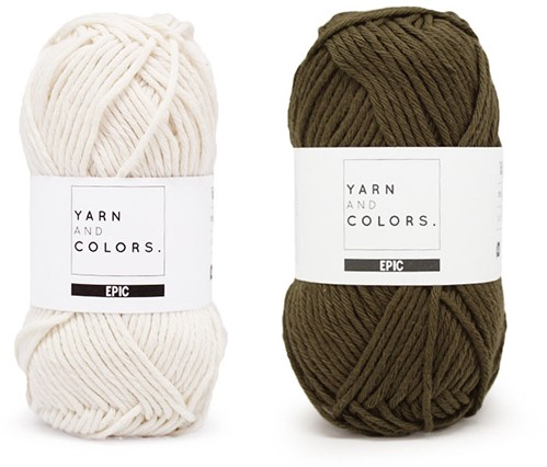 Yarn and Colors Striped Jumper Reversed Strickpaket 4 XL Khaki