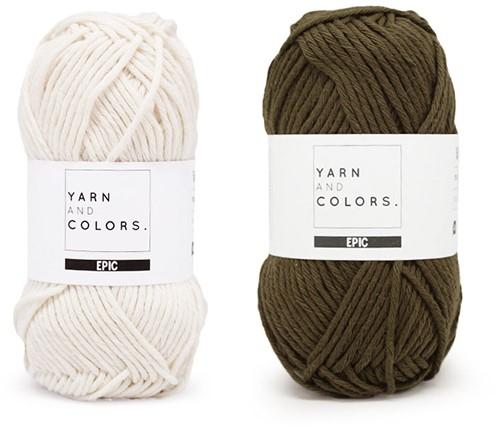 Yarn and Colors Striped Jumper Reversed Strickpaket 4 L Khaki