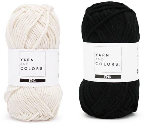 Yarn and Colors Striped Jumper Reversed Strickpaket 5 M Black