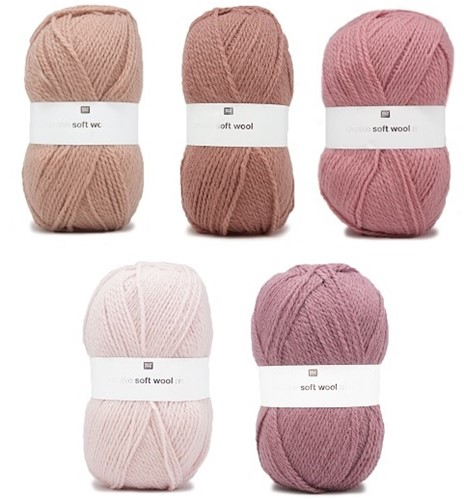 Creative Soft Wool Aran Babydecke Häkelpaket 1