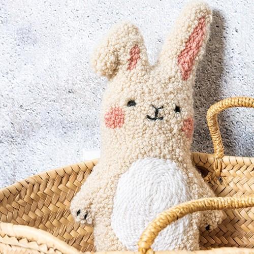 Kaninchen Kuscheltier Punchneedle Paket