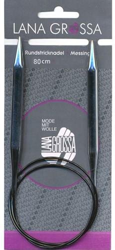 Lana Grossa Messing Rundstricknadel 80cm 9,0mm
