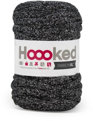 Hoooked RibbonXL Lurex 3 Black Sparkle