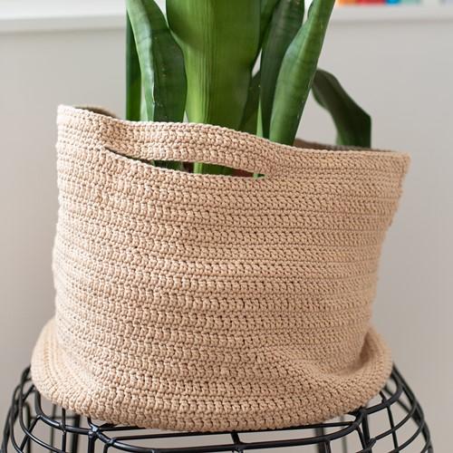 Cotton Tube Korb Häkelpaket 1 Beige