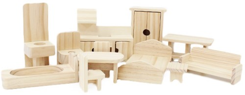 Puppenhaus Möbel Paket