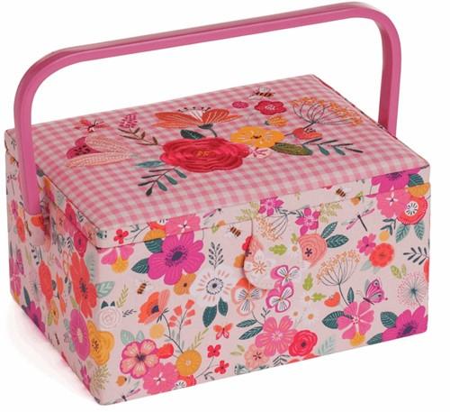 Nähkorb  Medium Floral Garden Pink