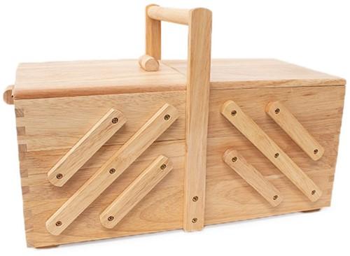Nähkorb Holz L Hell