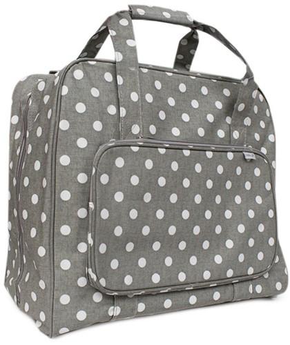 Nähmaschinen Tasche  Grey Linen Polka Dot