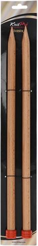 KnitPro Basix Birch Stricknadeln 40cm 15mm