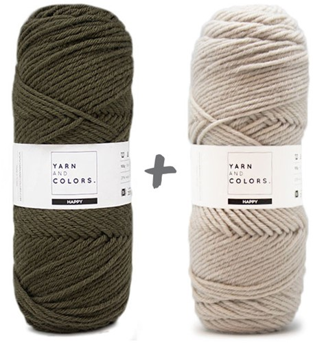 Traumdecke 4.0 KAL Strickpaket 13 Khaki & Birch