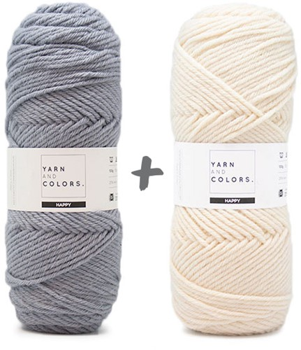 Traumdecke 4.0 KAL Strickpaket 1 Shark Grey & Cream