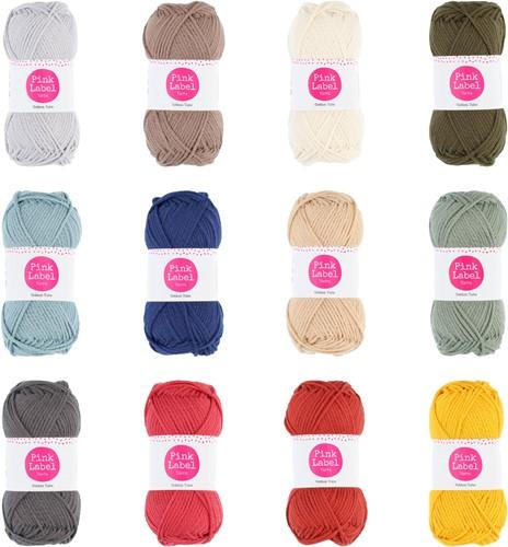 Pink Label Cotton Tube Alle Farben Paket