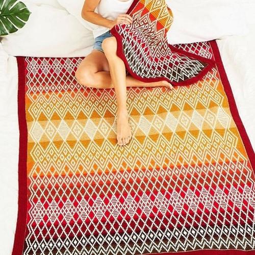 Queen Blanket (groß) CAL Garnpaket 1 Ruby