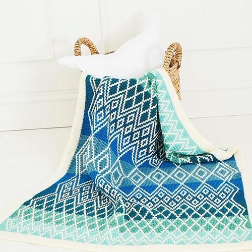 Queen Blanket (klein) CAL Garnpaket 3 Oceania