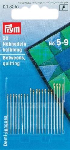 Prym Quiltnadeln halblang Nr. 5-9