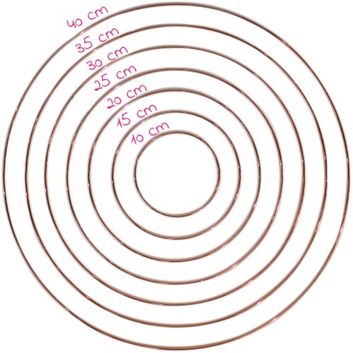 Yarn and Colors Rosé Metallring 15 cm