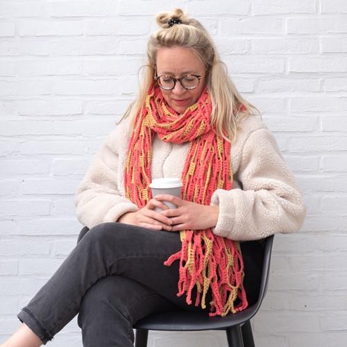Häkelanleitung Yarn and Colors Slouchy Stripes Shawl