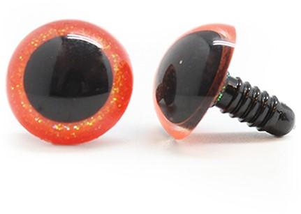 Plastik Sicherheitsaugen sparkle 003 Orange 14mm