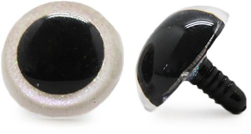 Plastik-Sicherheitsaugen Sparkle 006 weiss 24mm