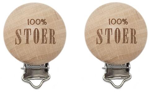 Durable Houten Speenclips 2 stuks 55 100% Stoer