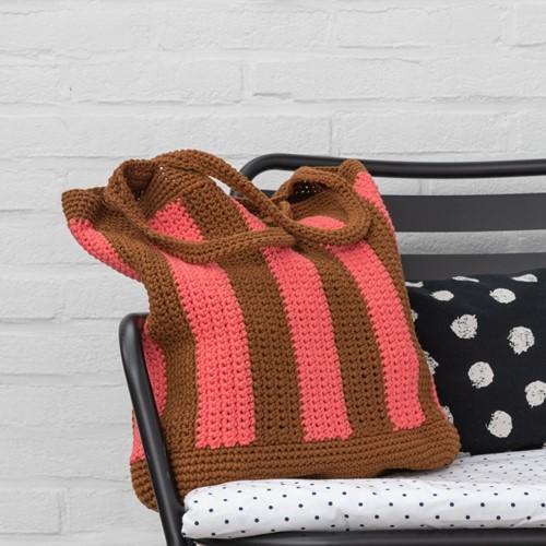 Häkelanleitung Yarn and Colors Striped Tote Bag