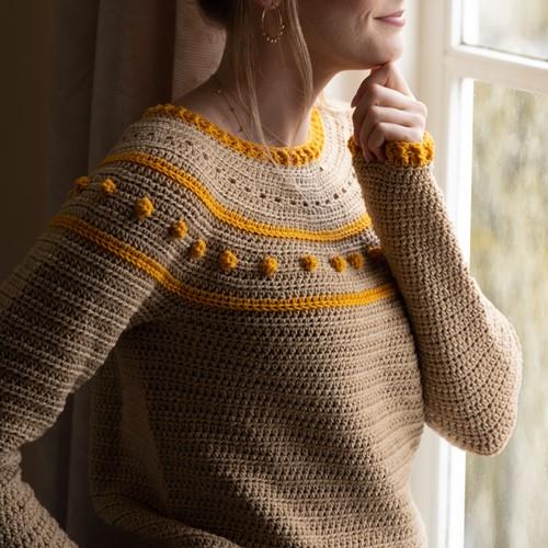 Yarn and Colors Sunrise Sweater Häkelpaket 1 Limestone XS