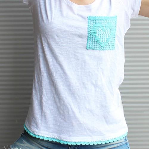 Häkelanleitung T-shirt Pocket