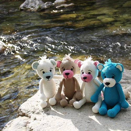 Häkelanleitung Teddybär Go Handmade