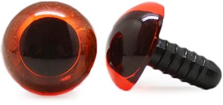 Sicherheitsaugen Transparent Orange (1 Stück) 16mm
