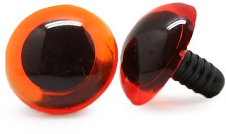 Sicherheitsaugen Transparent Orange (1 Stück) 18mm