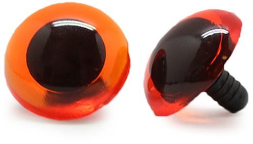 Sicherheitsaugen Transparent Orange (1 Stück) 20mm