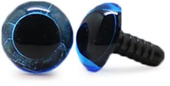 Sicherheitsaugen Transparent Blau (1 Stück) 14mm