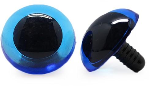 Sicherheitsaugen Transparent Blau (1 Stück) 20mm