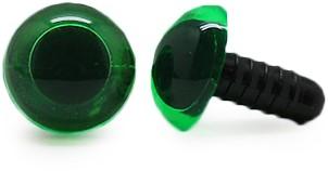 Sicherheitsaugen Transparent Grün (1 Stück) 10mm