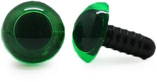Sicherheitsaugen Transparent Grün (1 Stück) 12mm