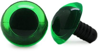 Sicherheitsaugen Transparent Grün (1 Stück) 14mm