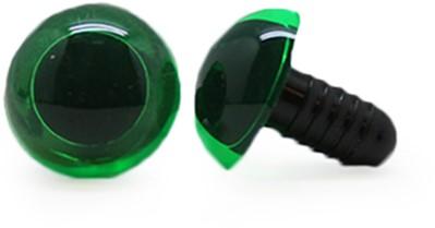 Sicherheitsaugen Transparent Grün (1 Stück) 15mm