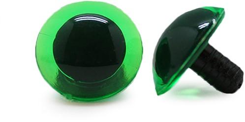 Sicherheitsaugen Transparent Grün (1 Stück) 16mm