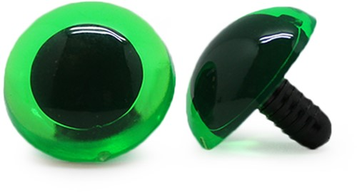 Sicherheitsaugen Transparent Grün (1 Stück) 24mm