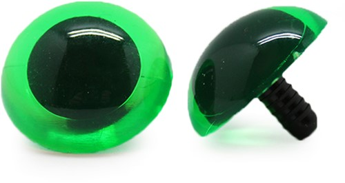 Sicherheitsaugen Transparent Grün (1 Stück) 30mm