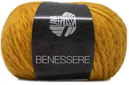 Benessere Pullover Strickpaket  1 40/42 Gold-Yellow