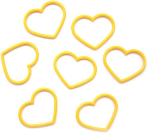 Tulip Maschenmarkierer Herz Uni 1 Gelb XL