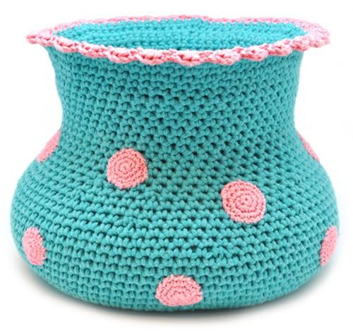 Häkelanleitung Getupfte Vase