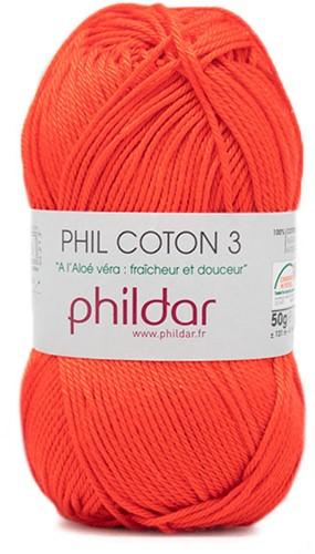 Phildar Phil Coton 3 2033 Vermillion