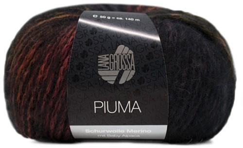 Piuma Jacke Strickpaket 1 46 Olive / Rosewood / Dark Grey / Black