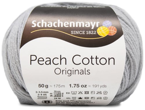 Peach Cotton Ajour Jacke Häkelpaket 2 S Silver