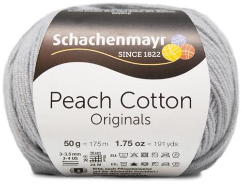 Peach Cotton Schal mit Volant Strickpaket 1 Silver