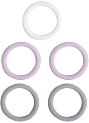 Silikonringe 5 Stück 5 Stuks 02 Lavendel Mix